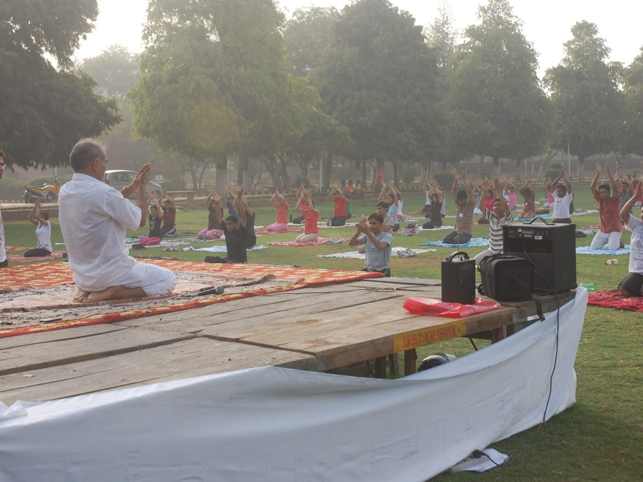 Morning Yoga in open Nature - Clapping as Therapy